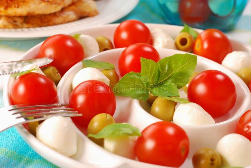 De salade van Caprese royalty-vrije stock afbeelding