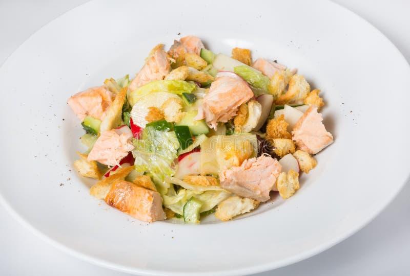 De salade van Cesar van de kip stock foto