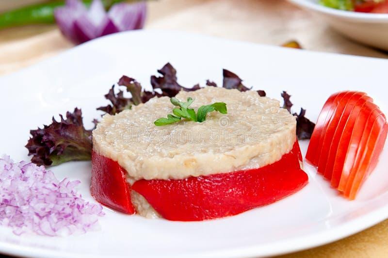 De Salade van de aubergine royalty-vrije stock fotografie