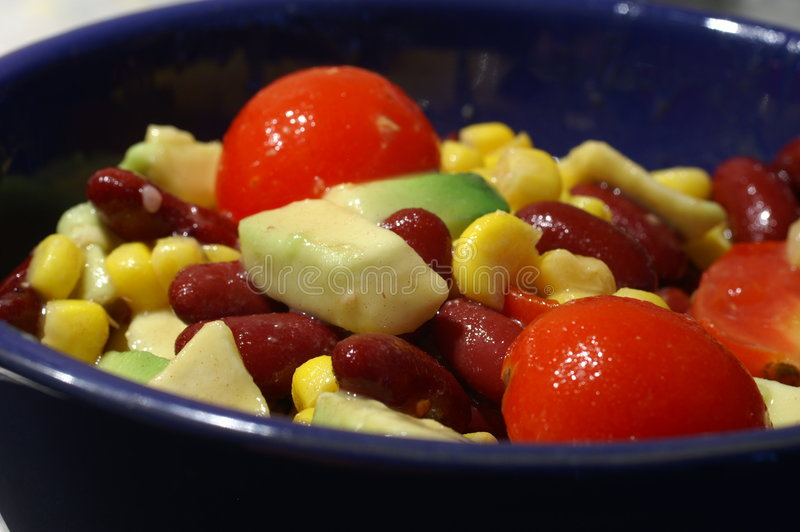 De salade van de avocado royalty-vrije stock fotografie