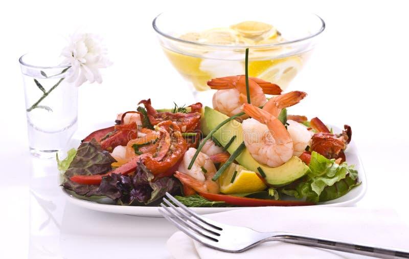 De salade van de garnaal stock fotografie