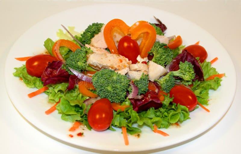De Salade van de Kip van de grill royalty-vrije stock foto