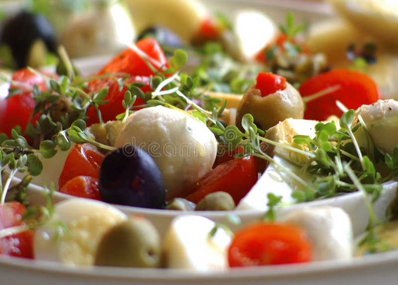 De salade van de lente stock afbeeldingen