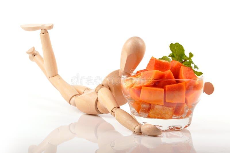 De salade van de papaja stock foto's