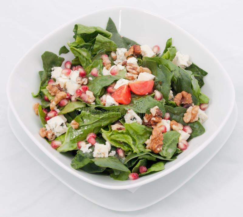 De salade van de spinazie stock fotografie