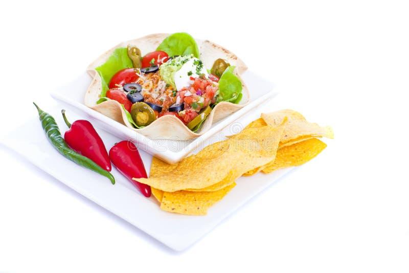 De salade van de taco stock foto