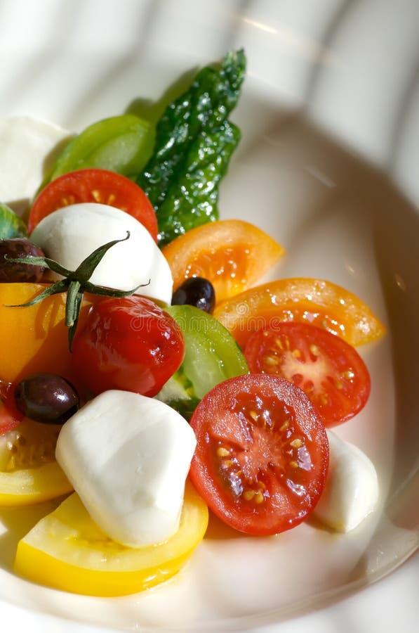 De salade van de tomaat royalty-vrije stock afbeeldingen