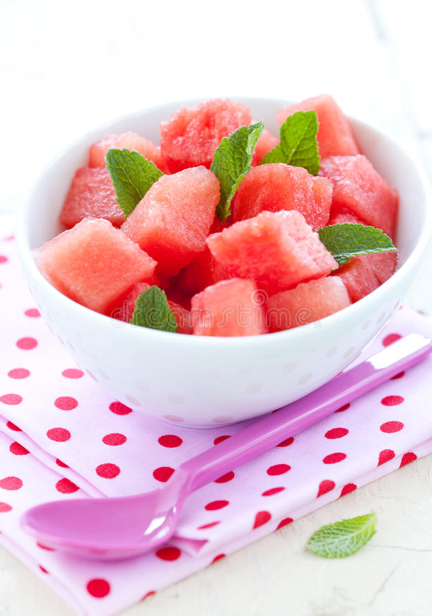 De salade van de watermeloen stock foto's