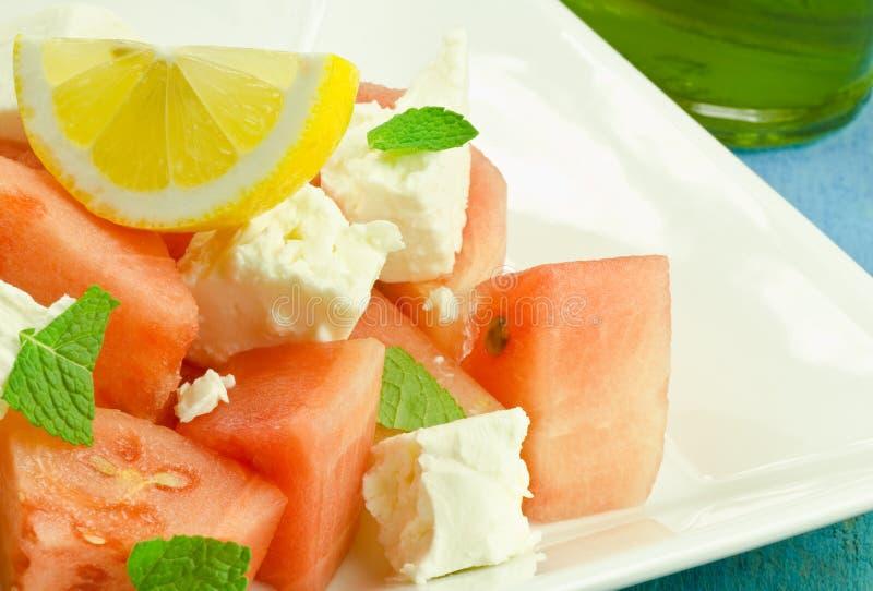 De salade van de watermeloen royalty-vrije stock foto