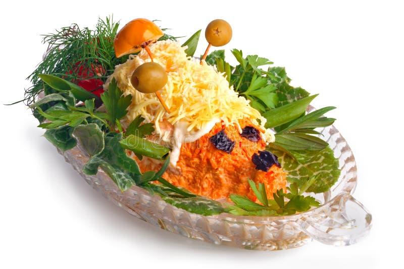 De salade van de wortel royalty-vrije stock fotografie