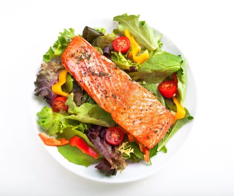 De salade van de zalm royalty-vrije stock afbeeldingen