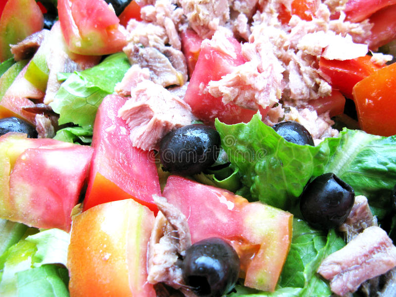 De salade van de zomer royalty-vrije stock foto