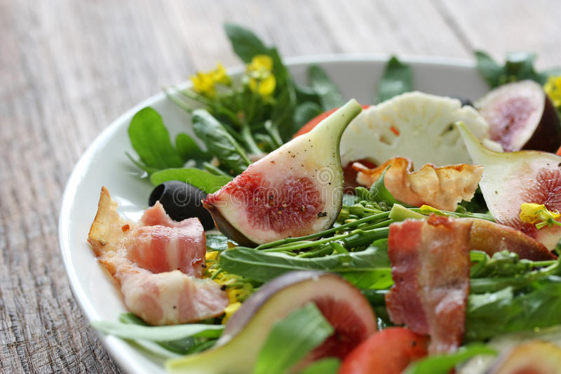 De salade van Figgy stock foto's