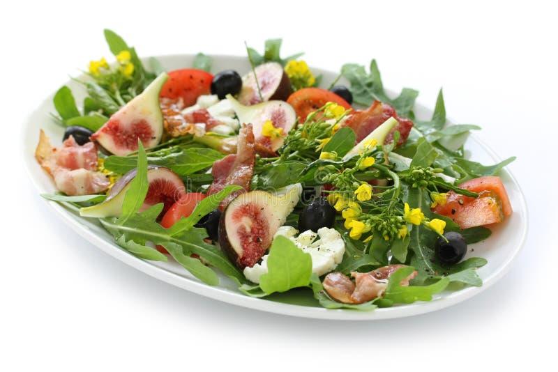 De salade van Figgy stock afbeeldingen