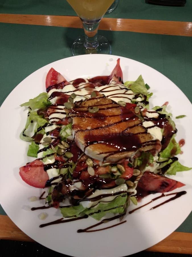 De salade van de geitkaas stock afbeelding