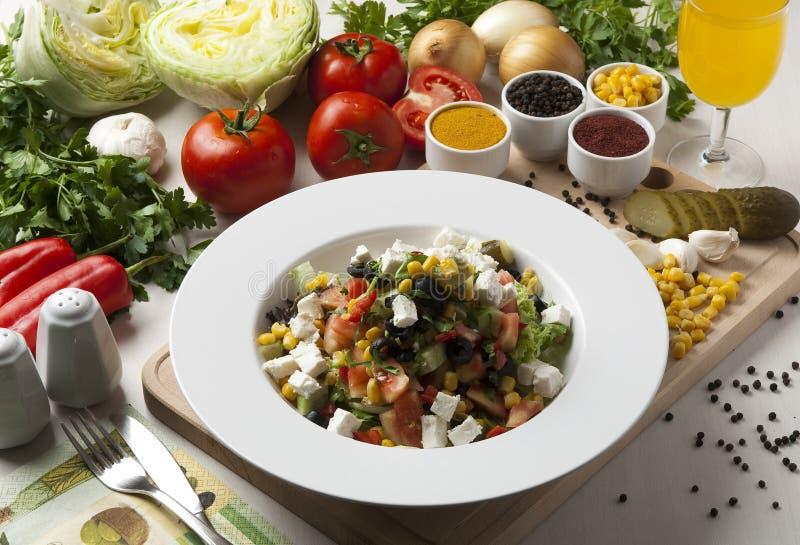 De salade van het dieet stock fotografie