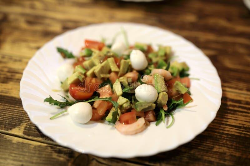 De salade van het kwartelsei stock afbeelding
