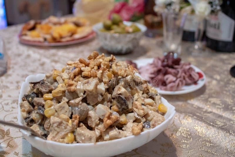 De salade van het nieuwjaar stock foto's