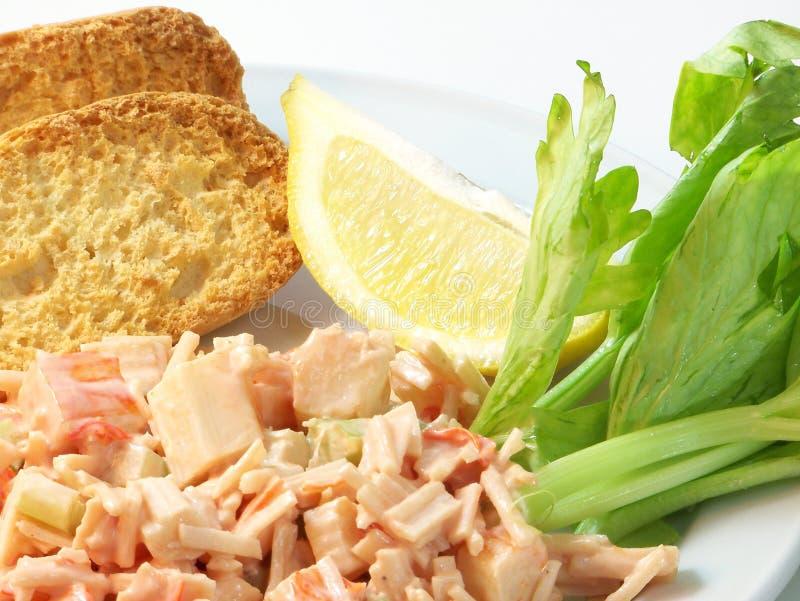 De Salade van het Vlees van de krab stock fotografie