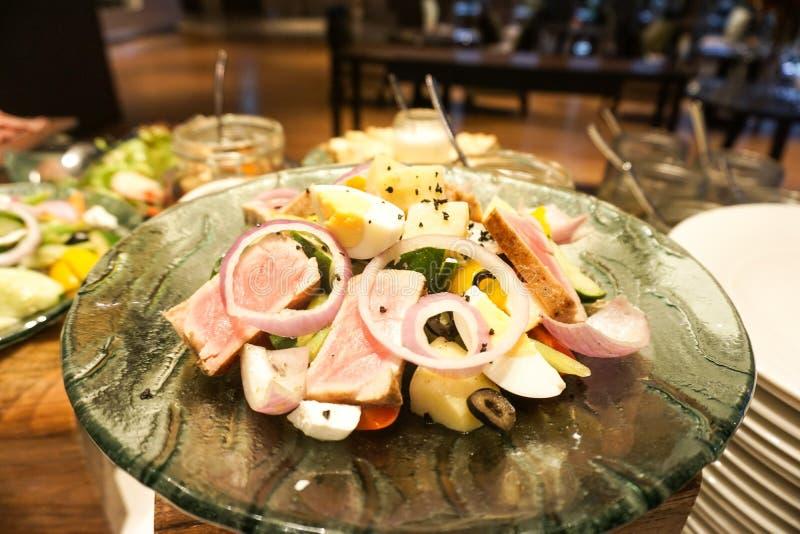 De salade van Nicoise stock afbeelding