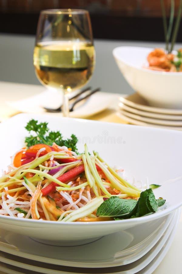 De Salade van Singapore royalty-vrije stock foto