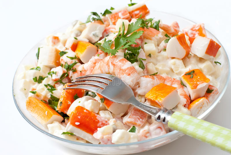De salade van Surimi royalty-vrije stock fotografie