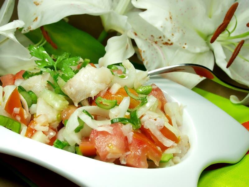 De salade van vissen royalty-vrije stock foto