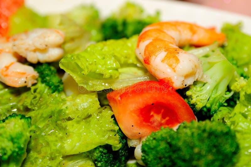 De salade van zeevruchten stock foto's