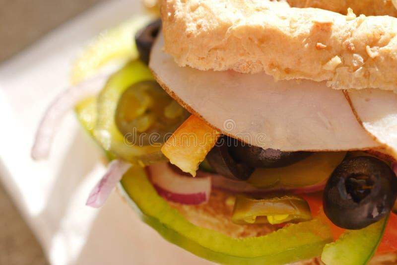 De saladesandwich van de kip royalty-vrije stock afbeeldingen