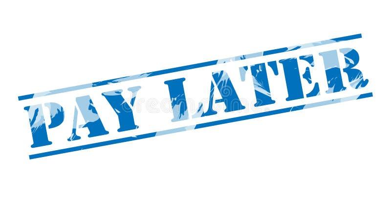 De salaire timbre bleu plus tard illustration de vecteur
