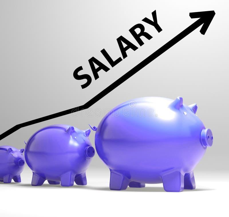 De salarispijl toont Loonsstijging voor Arbeiders stock illustratie