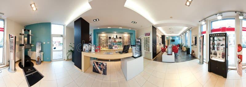 De salon van de opticien stock foto