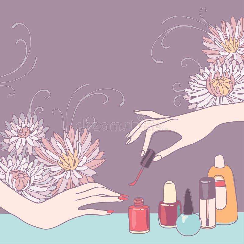 De salon van de spijkerkunst vector illustratie