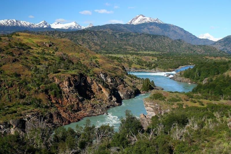 De samenloop van de rivier stock foto's