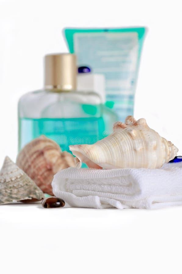 De samenstelling op zorg voor huid. stock foto
