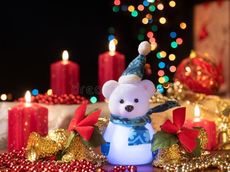 De samenstelling van de Christmastdecoratie stock afbeeldingen