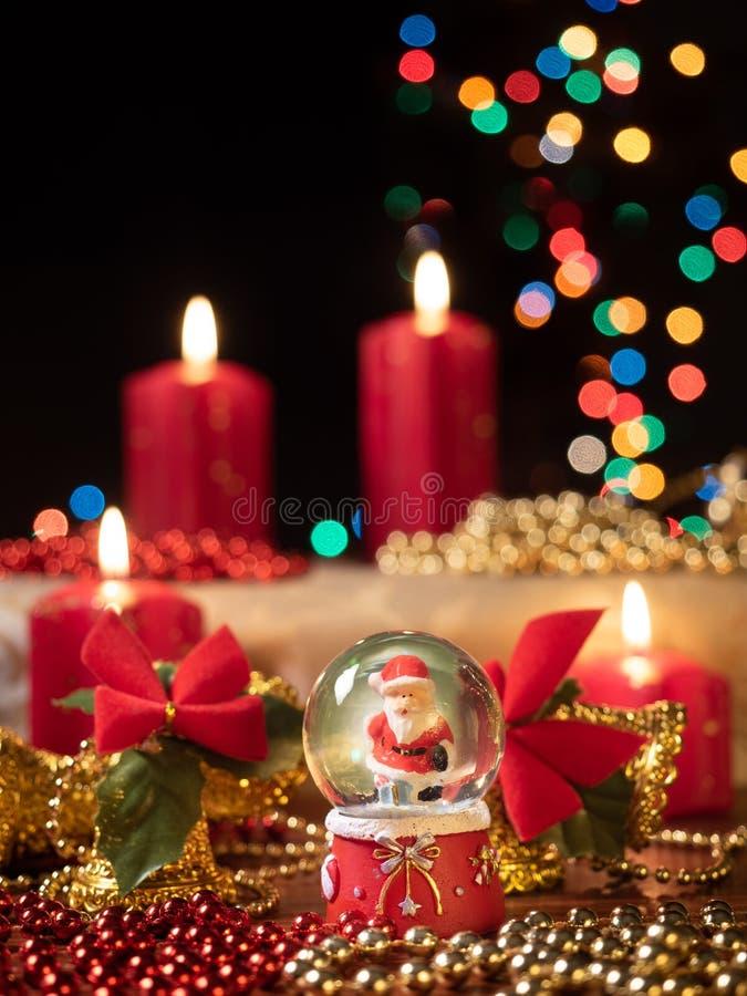 De samenstelling van de Christmastdecoratie stock afbeelding