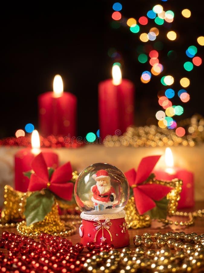 De samenstelling van de Christmastdecoratie stock foto's