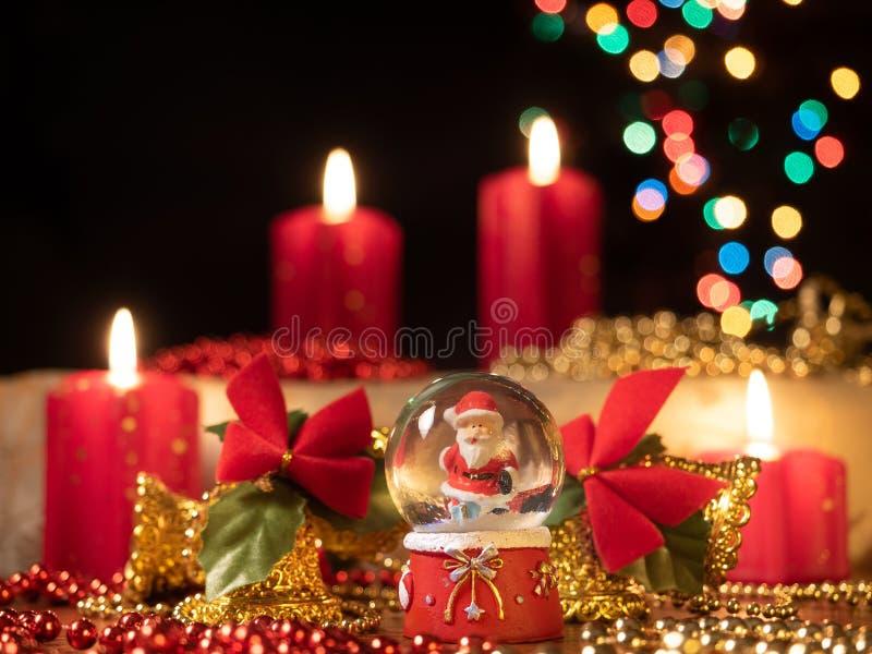 De samenstelling van de Christmastdecoratie stock foto
