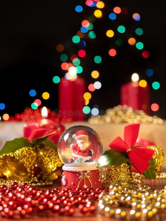 De samenstelling van de Christmastdecoratie royalty-vrije stock afbeelding
