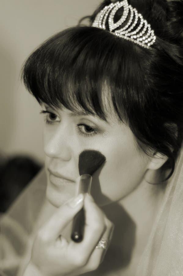 De samenstelling van de bruid stock foto