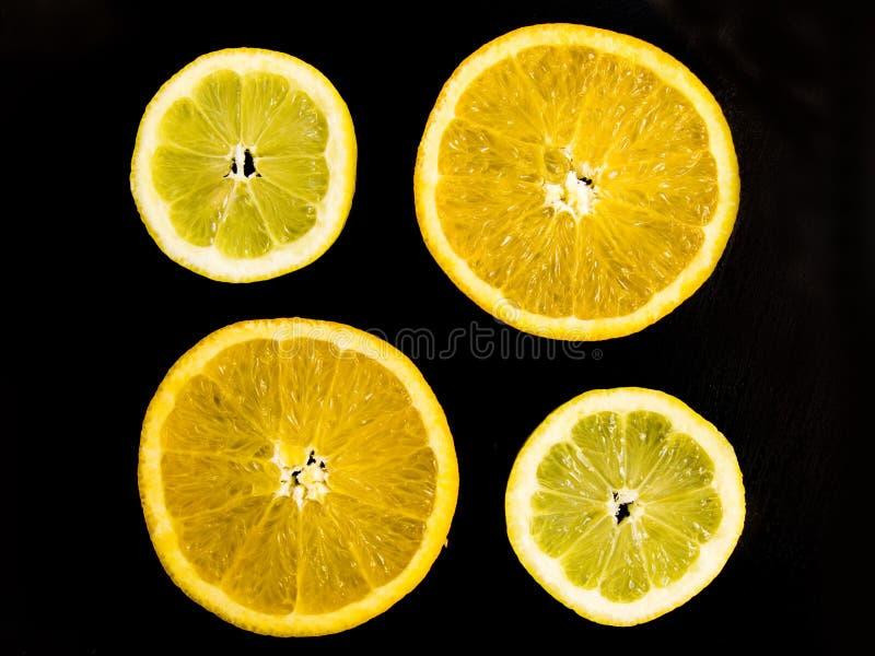 De samenstelling van de citrusvrucht stock foto's