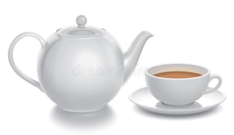 De samenstelling van de thee stock illustratie