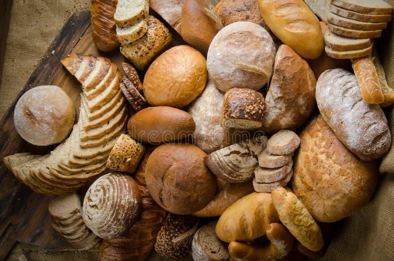 De samenstelling van het brood royalty-vrije stock fotografie