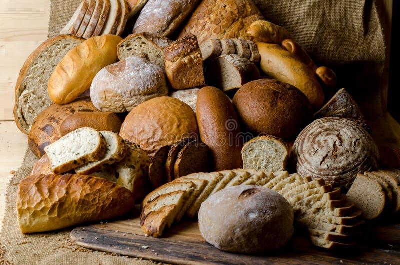 De samenstelling van het brood royalty-vrije stock foto's