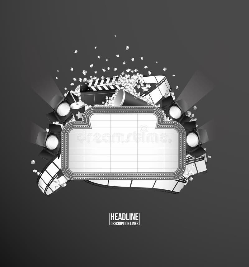 De samenstelling van het filmthema stock illustratie