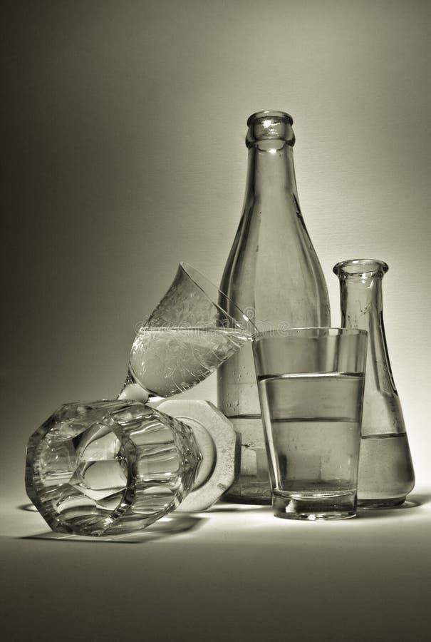 De Samenstelling van het glas stock foto