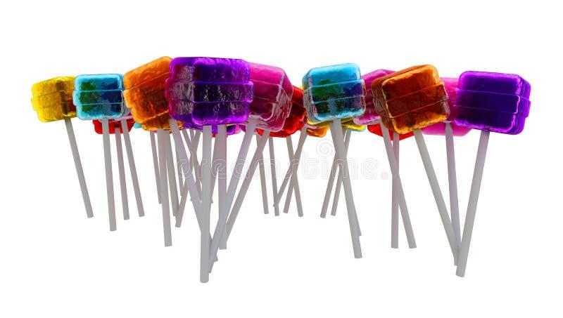 De samenstelling van lollys stock afbeelding