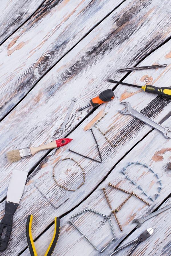 De samenstelling van de vadersdag op houten achtergrond royalty-vrije stock afbeeldingen