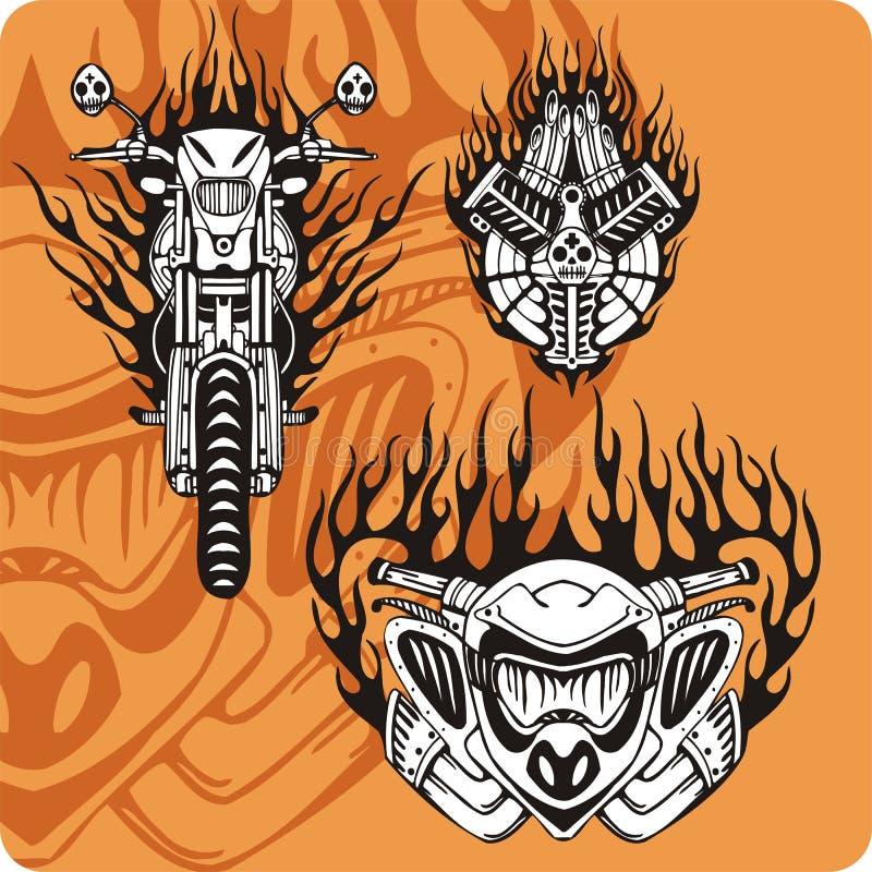 De samenstellingen van de motorfiets - reeks 12 royalty-vrije illustratie